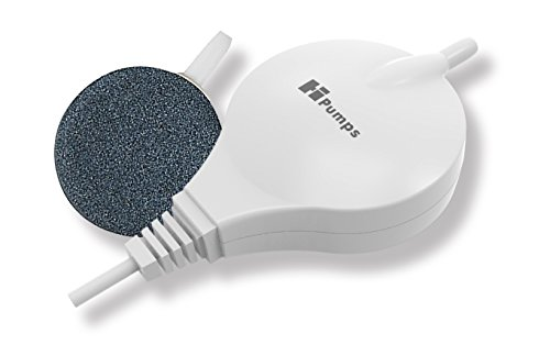 Hpumps Nano Aquarienluftpumpe weiß rund 18l/h mit hochmoderner Piezotechnologie, Rund