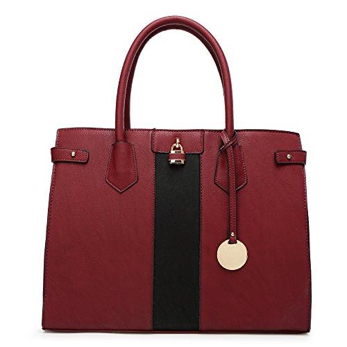 HB Style , Cabas style de luxe Fille femme bordeaux
