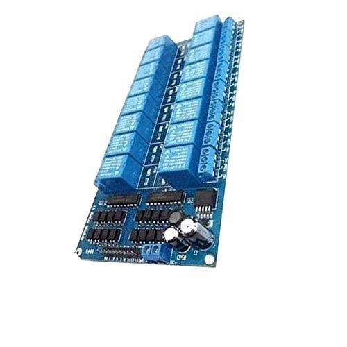 EULAGPRE 12V 16 Kanal Relais Modul Plattenleiter Optokoppler Schutz LM2576 Energieversorgung