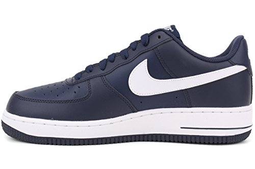Nike  Air Force 1,  Herren Gymnastikschuhe Multicolore - Azul / Blanco (Midnight Navy / White-Mid Navy)