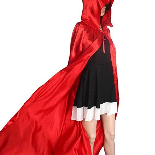 Culater® Halloween Karneval Verkleidung Damen Herren Mantel Umhang Kapuzenmantel (S, rot) (Horror-robe Schwarze)