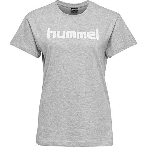 Hummel Damen HMLGO Cotton Logo T-Shirts, Grau Melange, S