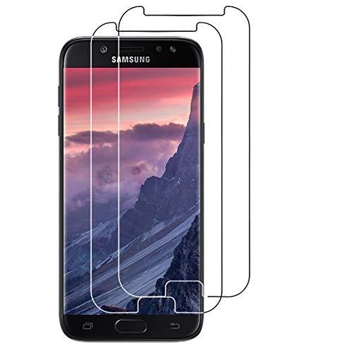 VICKSONGS Panzerglas Folie für Samsung Galaxy J5 2017 Duos, [2 Stück] Panzerglasfolie für Samsung Galaxy J5 2017 Hülle, 9H [Anti-Kratzen] [Anti-Fingerabdruck], Bildschirmschutzfolie für J5 2017