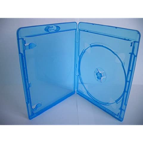 Amaray Blu-ray Envoltorios, Slim 11 mm, Machine-pack-quality, Transparente, Azul, 50 unidades