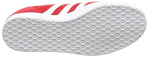 adidas Gazelle, Baskets Basses Homme Rouge (Power Red/white/gold Metallic)
