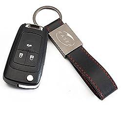 Schlüssel Gehäuse Fernbedienung für Opel 3 Tasten Autoschlüssel Funkschlüssel Insignia Astra Zafira Vauxhall Holden Mokka mit Leder Schlüsselanhänger KASER