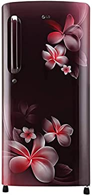 LG 190 L 4 Star Inverter Direct-Cool Single Door Refrigerator (GL-B201ASPY, Scarlet Plumeria, Moist 'N'