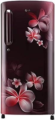 LG 190 L 4 Star Inverter Direct-Cool Single Door Refrigerator (GL-B201ASPY, Scarlet Plumeria, Moist 'N'