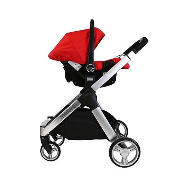 iSafe Marvel 3in1 Travel System Includes Car Sea & Carrycot (Red Pearl) iSafe  5