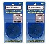 The Quilted Bear - Cutter rotatifde rechange Disc Lames 45mm x2 (Compatible all inc. OLFA, FISKARS & DAFA)