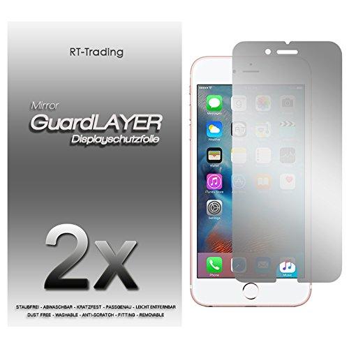2x Apple iPhone 6S Plus (5,5 Zoll) - Spiegelfolie Display Schutzfolie Folie Schutz Mirror Screen Protector Displayfolie - RT-Trading