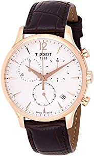 Tissot Mens Quartz Watch, Analog Display and Leather Strap T063.617.36.037.00