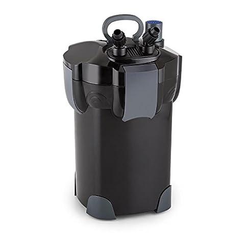 Waldbeck Clearflow 18UV • Filtre externe pour aquarium • Filtrage en 3 parties • Pour aquariums d'une capacité maximale de 400 litres • Moteur économique 18 watts • Filtres amovibles séparément • Jusqu'à 1000 litres d'eau filtrée par heure
