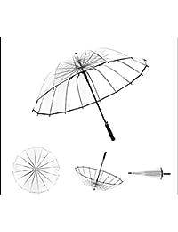LYYUMBRELLAS Más Grueso Transparente Paraguas Derecho Mango Paraguas automáticos Hombres y Paraguas par de Las Mujeres