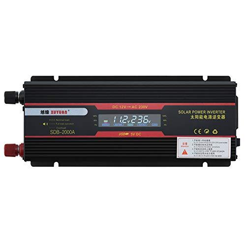 Ganquer 6000W Black Car Inverter Trucks Pantalla LCD