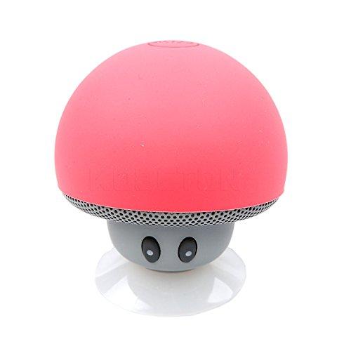hen drahtlose Bluetooth-Pilz-Lautsprecher Wasserdichte Lautsprecher Bluetooth Stereo-Musik-Lautsprecher f¨¹r Telefon [rot] (6x4 Lautsprecher Kicker)