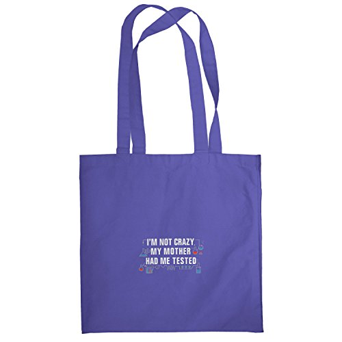 Texlab–I m Not Crazy–sacchetto di stoffa Marine