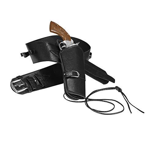 Widmann - Cinturón con funda para pistola Vaquero del Oeste para hombre - negro