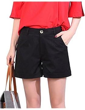 Donna Pantaloncini Di Base Vita Alta Casuale Shorts Larghi Eleganti