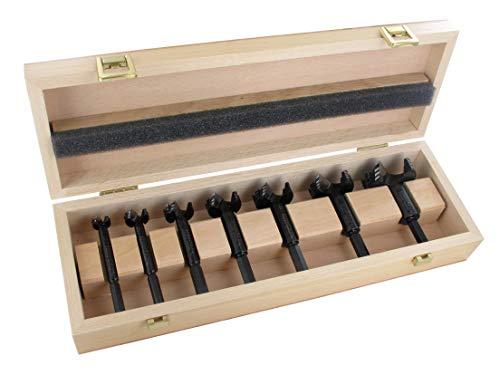 Famag Forstnerbohrer Set WS Bormax, 7-teilig, Holzbohrer ø 15-50 mm, in praktischer Holzbox, 1622515