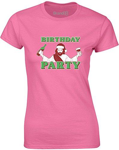 Birthday Party, Gedruckt Frauen T-Shirt - Azalee/Transfer XL = 92-97cm