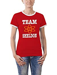 Touchlines Damen - Team Sheldon Girlie Ringer T-Shirt