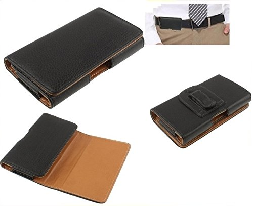 DFV mobile - Case Belt Clip Synthetic Leather Horizontal Premium for => ZTE NUBIA Z5S MINI NX403A > Black