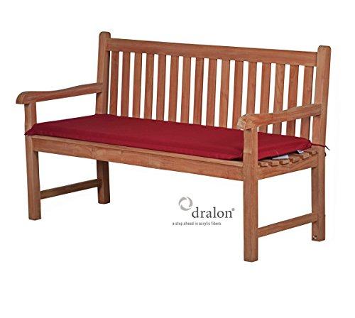 Bankauflage Sitzus aus lichtechtem Dralon – 100 x 40cm, bordeauxrot ✓ Waschbar ✓ Hoh
