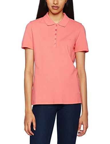 BOGNER Jeans Damen Slim Fit Poloshirt Polo, Gr. 38 (Herstellergröße: M), Rosa (georgia 797)