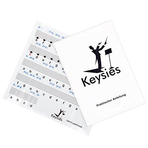 durchsichtige, ablösbare Keysies-Aufkleber für die Klavier- und Keyboardtastatur – mit praktischer Anleitung. - 4
