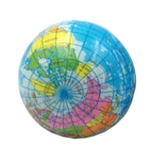 dryujdytru Elegante PU Schaum Druck Ball 6-10 cm Globus Erwachsene Spielzeug Schwamm Ball - 6.3 cm