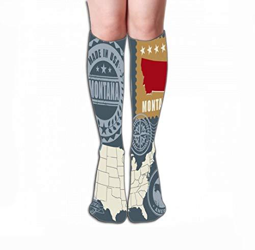Wfispiy Women Girls Novelty Funny Crew Socks 19.7