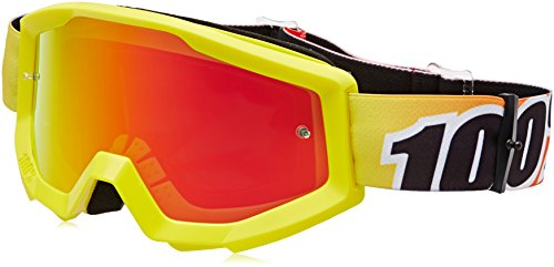 100%, Gafas de bicicleta Unisex adulto, Talla única, Amarillo (Yellow/Orange/Black)