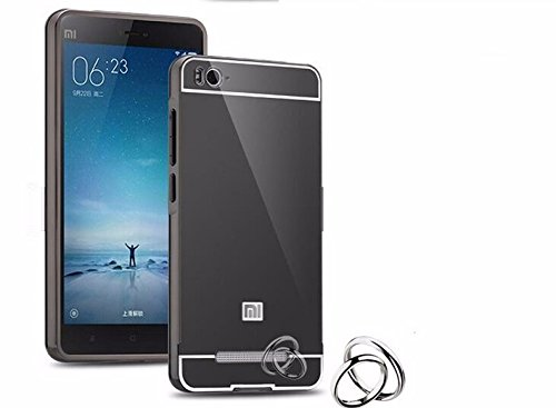 finest selection 7e844 f1207 FOR REDMI 4A CASE AE (TM) Luxury Metal Bumper + Acrylic Mirror Back Cover  Case For XIAOMI REDMI 4A GREY PLATED