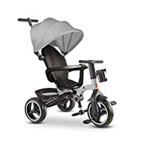 GYF Child Trike Baby Bike Trike For 2 Year Old Strollers For Kids Folding Sun Canopy Fit From 6 Months To 6 Years Walker For Kids Blue Red Gray ( Color : Gray )