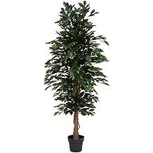 Ficus Verde - Árbol artificial De Los Muebles Con El Tronco Natural - Altas 175 cm Largo 65 cm