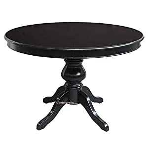 Artigiani Veneti Riuniti Black round table, extendable round table, 120 cm diameter, wooden table, black dining table…