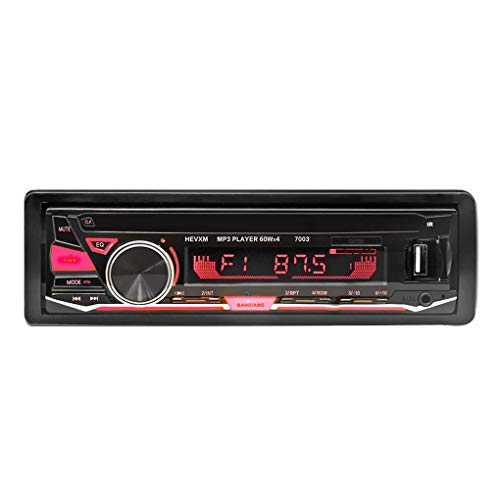 Fornateu Universal-12V Bluetooth Auto-MP3-Player-abnehmbares Bedienteil Stereo-o-Player-Fernbedienung USB FM Aux