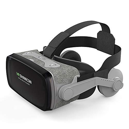LEP Kopfhörer der virtuellen Realität, VR-Schutzbrillen, Medienformat MP3, AVI, MPG, WMA, WAV, geeignet für Videospiele mit 3D-Vr-Filmen