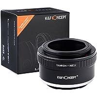 Bague d'adaptation pour objectif Tamron Adaptall II à Caméra Sony NEX Adaptateur lentille fait de laiton et d'aluminium Adaptateur solide précis Noir