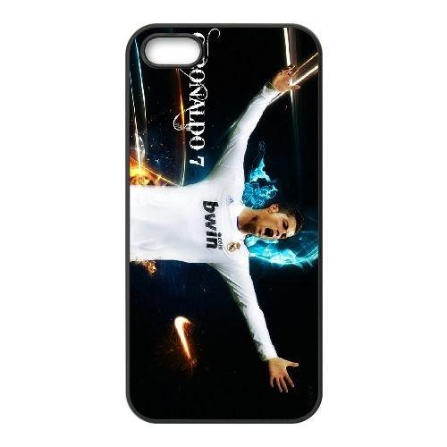Cristiano Ronaldo coque iPhone 5 5S Housse téléphone Noir de couverture de cas coque EBDXJKNBO16224