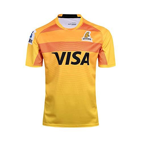 HBRE Rugby Trikot,Jaguar Rugby Jersey,Offizielle Weltmeisterschaft 2017-18,Sportbekleidung FüR Herren,Schnelltrocknendes Kurzarm-T-Shirt,M