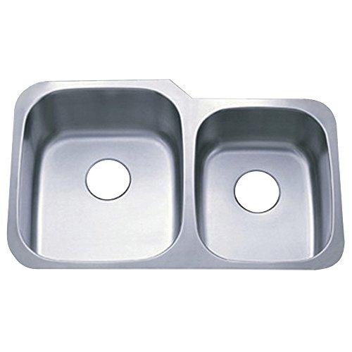 Kingston Messing GKUD3221 Gourmetier GKUD3221 Unterbau Double Bowl Kitchen Sink, geb-rstetes Nickel -