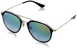 Ray-Ban Gradient Square Unisex Sunglasses - (0RB42536052Y053|52|Orange Color)