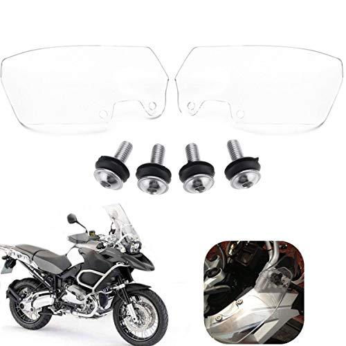 C-FUNN Moto Antivento Deflettori Resistente Ai Graffi Pmma Set per BMW R1200Gs 04-12-Trasparent