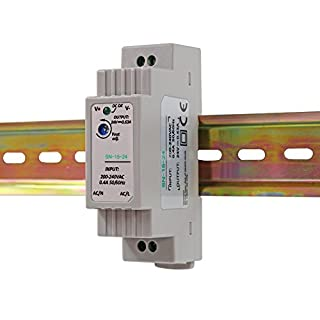 Auforua® AC 230V to DC 15W 24V 0.63Amp Din-Rail Switching Power Supply Transformer Unit for Industrial and Residential Applications; Suitable to Drive LED Tapes and Strips;