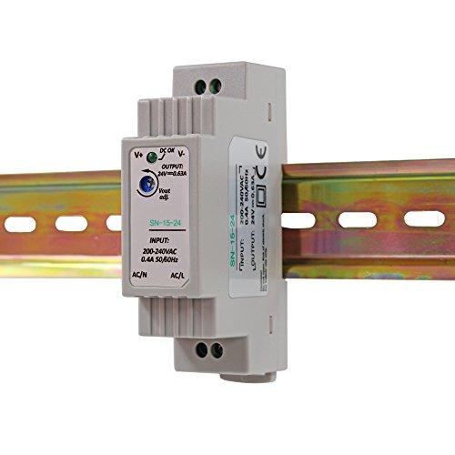 Auforua® Hutschienen Netzteil LED Trafo 230VAC / 24V DC 0.63A 15W; Konstantspannung DIN-Schiene Netzteil für LED Produkte 24V DC; Schaltnetzteil Hutschienennetzteil