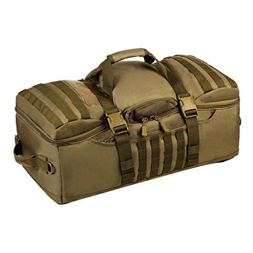 MagiDeal Mehrzweck Militärische Taktische Molle Reiserucksack Großer Rucksack 60L Sportrucksack Duffle Bag Wanderrucksack Trekkingrucksack als Schultertasche Umhängetasche Braun