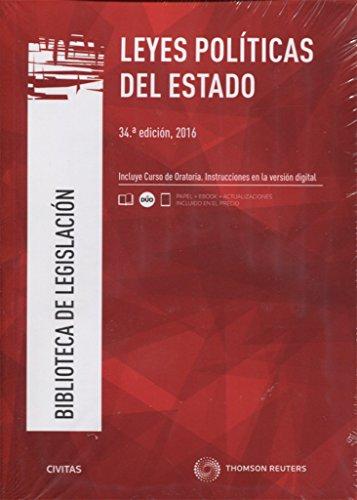 Leyes Políticas del Estado (34 ed. - 2016) (Biblioteca de Legislación) por Aa.Vv.