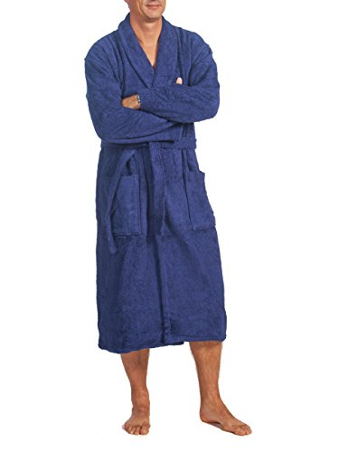 Linie-Naturelle - Peignoir de bain en Tissu Éponge: taille 10XL, bleu marine